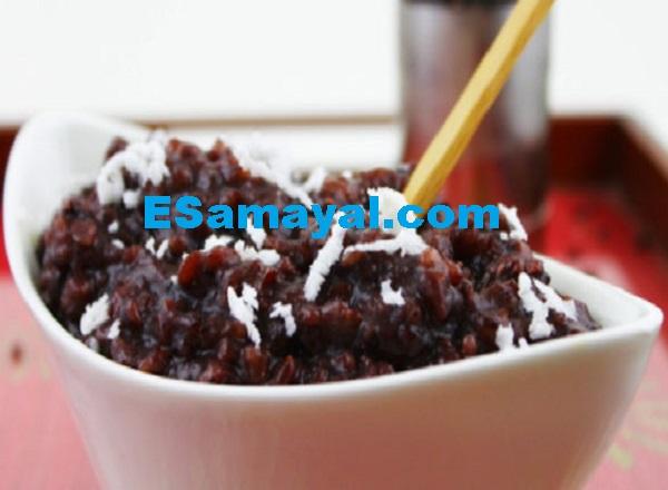 கருப்பரிசி சர்க்கரைப் பொங்கல் செய்முறை | Black rice sweet pongal Recipe !