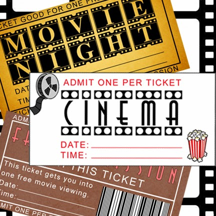 image relating to Free Printable Movie Tickets known as Loved ones Impressive: Free of charge Printable Online video Evening Tickets