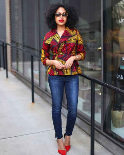 trendy ankara jacket