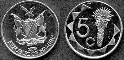 Namibia 5 cents 2002