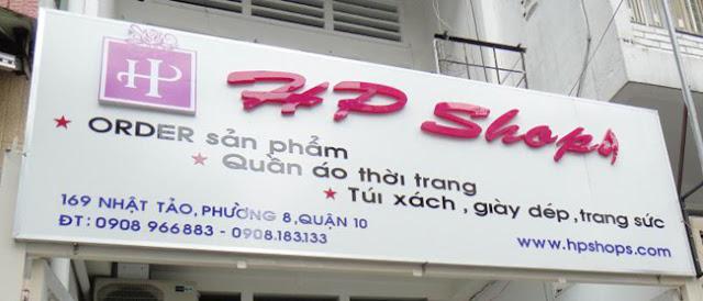Bảng hiệu shop thời trang HP Shop
