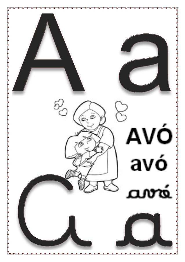 Alfabeto Da Dora Aventureira Para Colorir Pintar Ou Imprimir