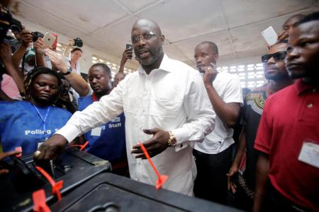 The Only African player to win World Best footballer of the year (Ballon d'Or) George Weah just became the new President of  Liberia.