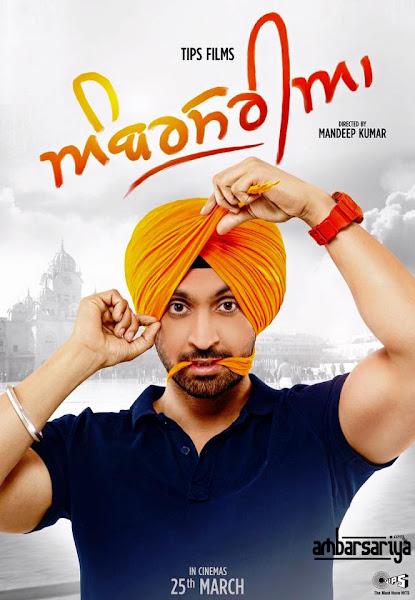 Poster Of Ambarsariya 2016 480p Punjabi DVDScr Full Movie Download