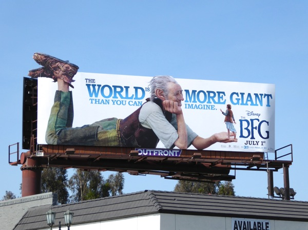 The BFG movie billboard