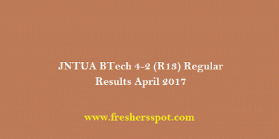 JNTUA BTech 4-2 R13 April Results 2017