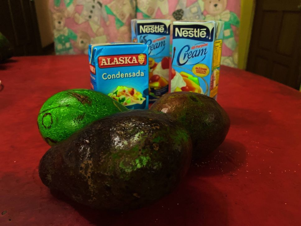 Cheesy avocado ice cream ingredients