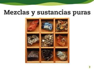 Resultado de imagen de sustancias puras y mezclas en primaria