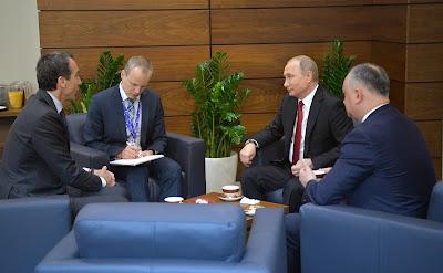 Vladimir Putin, Christian Kern, Igor Dodon