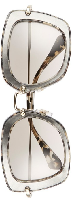 Miu Miu 52mm Glitter Sunglasses