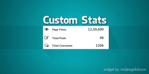 Install Custom Stats Widget for Blogger