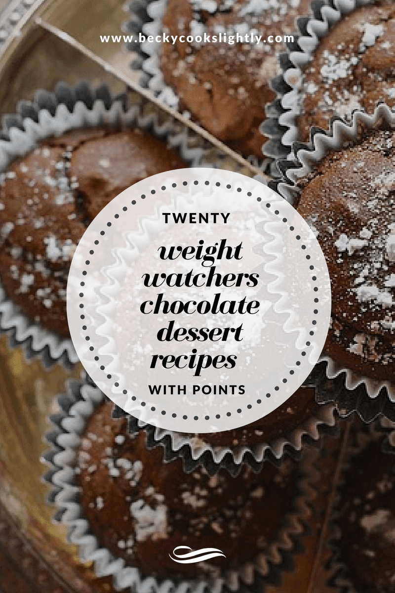 Weight Watchers Chocolate Recipes with Point Values; Becky Cooks Lightly