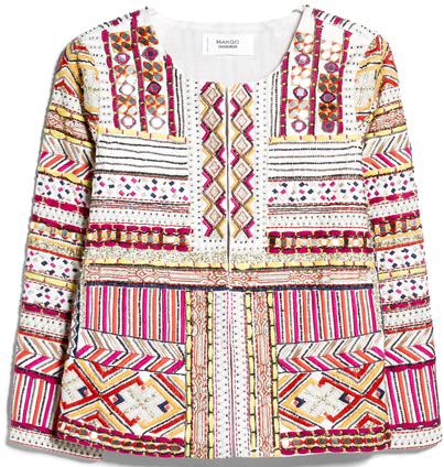 mango embroidered jacket