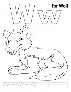 Kids Coloring Pages Letter Ww Printable Coloring Pages
