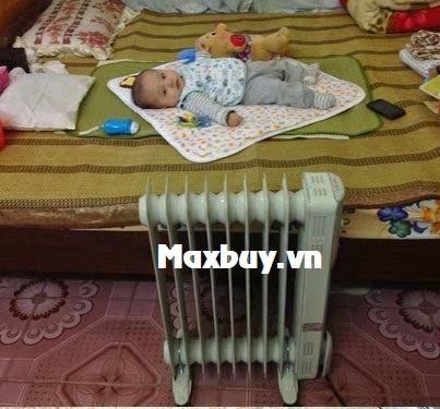 Máy sưởi dầu an toàn cho trẻ nhỏ, trẻ sơ sinh