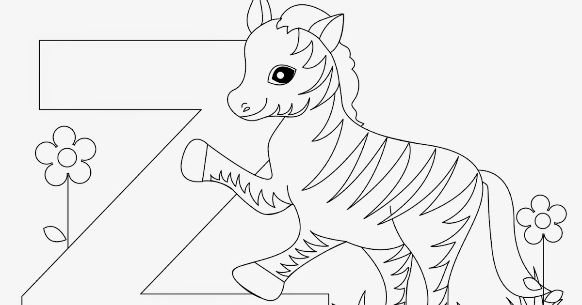 Kids Page: Z is for Zebra - Animal Alphabet Letters Worksheet