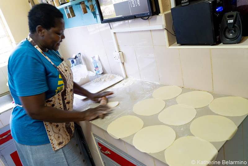 Petty Making Tortillas Volunteering in Kenya with Freedom Global