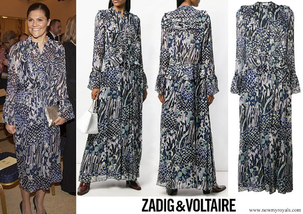 Crown Princess Victoria wore ZADIG & VOLTAIRE floral print dress