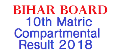 Bihar Board 10th Matric Compartmental Result 2018