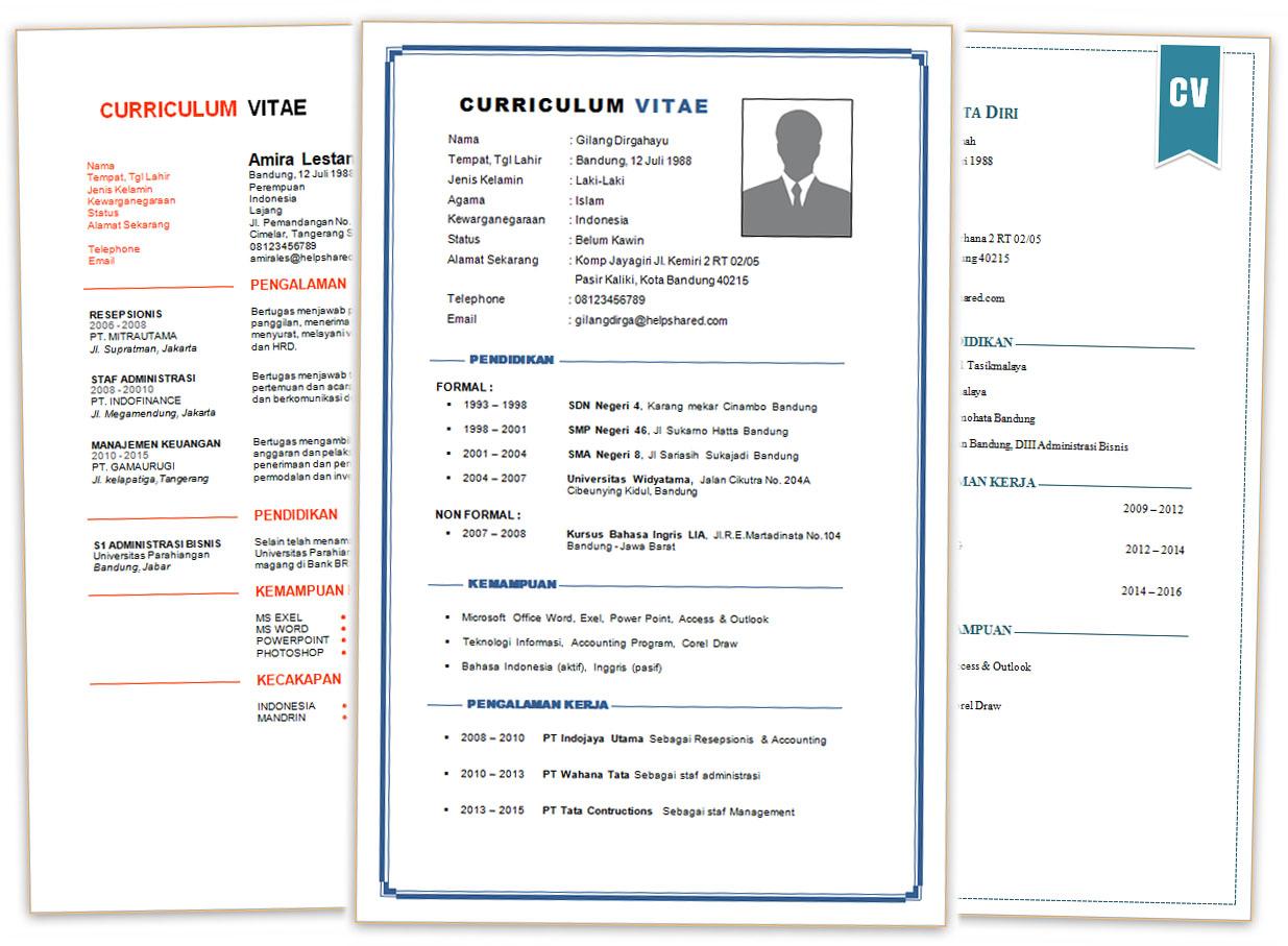 Contoh Daftar Riwayat Hidup Format Docx Ms Word