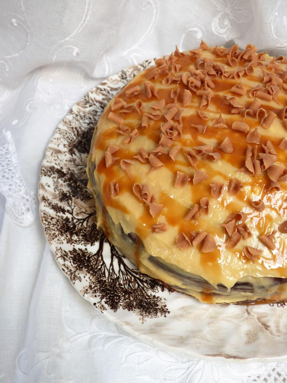 Chez Maximka: Banana cake with salted caramel mascarpone ...