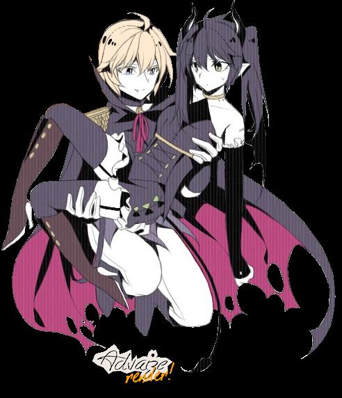 Render Mikaela Hyakuya and fem!Yuuichirou Hyakuya