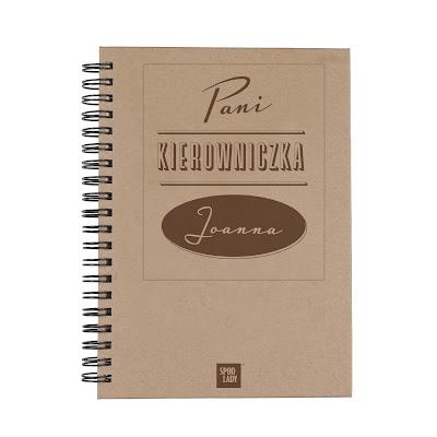 """Notes z imieniem """"Pani Kierowniczka""""-prezent na dzień kobiet w biurze"""