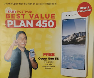 OPPO Neo 5S Now Available At Sun Postpaid Plan 450