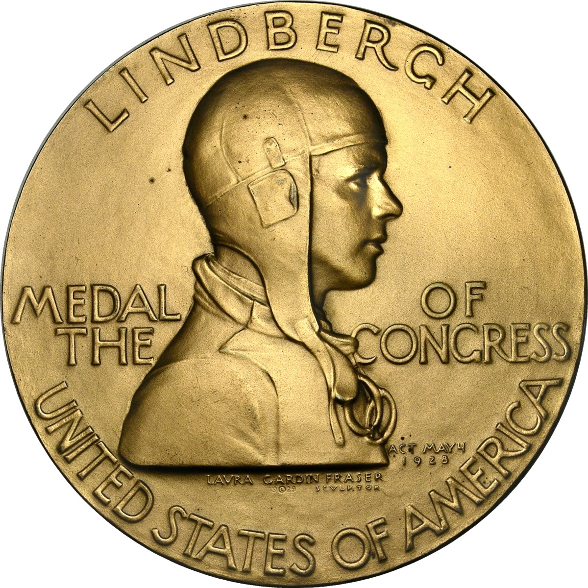 Gold Medal Awarded by Congress to Charles Lindbergh
