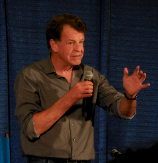 John Noble answering fans' questions at Shore Leave 38, Hunt Valley, MD.