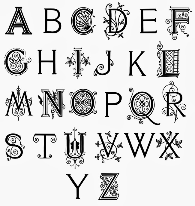 fancy hand writing alphabet