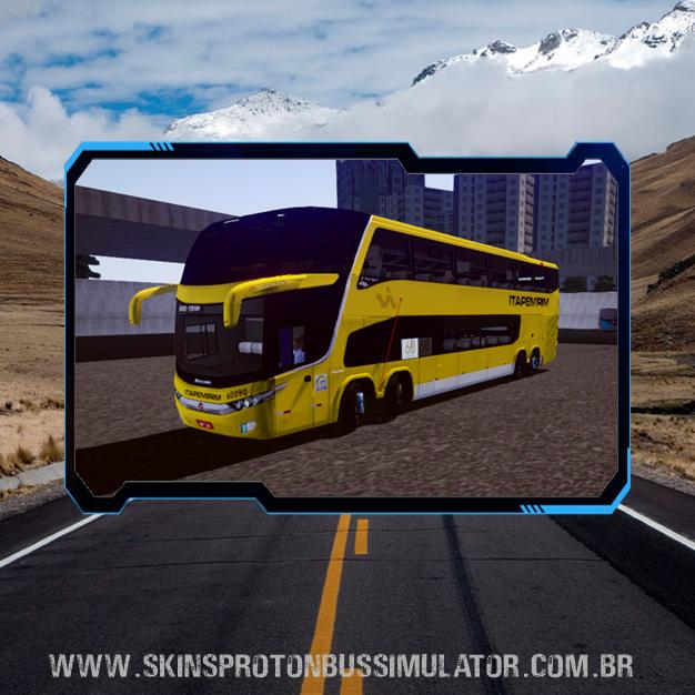 Skin Proton Bus Simulator - G7 1800 DD Volvo B450R 8X2 Viação Itapemirim