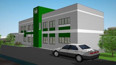 Perspectiva do projeto da nova sede administrativa da NTA em Paulínia.
