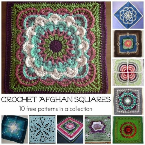 Beautiful Crochet Afghan Squares - Free Patterns