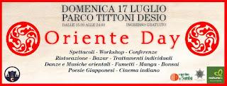Oriente Day 17 Luglio  Desio Parco Tittoni 2016