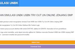 Kumpulan Soal dan Simulasi UNBK USBN SMP