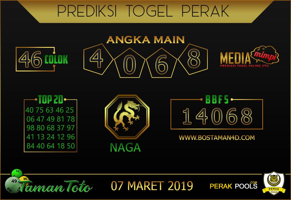 Prediksi Togel PERAK TAMAN TOTO 07 MARET 2019