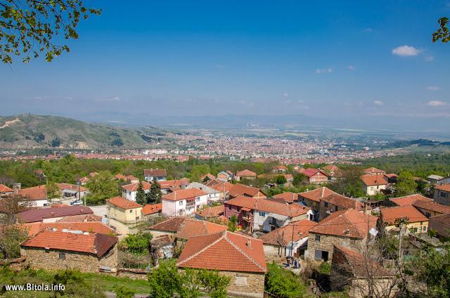 Bitola Panorama - view from Brusnik village, Bitola, Macedonia