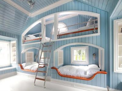 desain kamar tidur bertingkat terbaru
