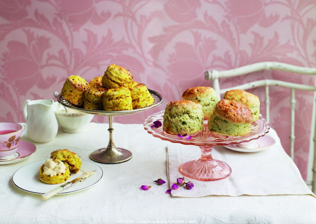 Lemon scones, Pistachio Scones,  Afternoon Tea, Eric Lanlard, recipes, cookbook review