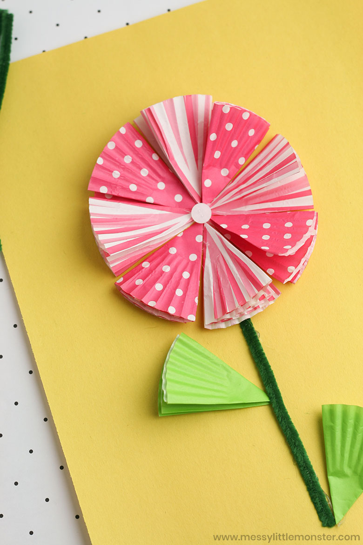 Spring flower craft for preschoolers