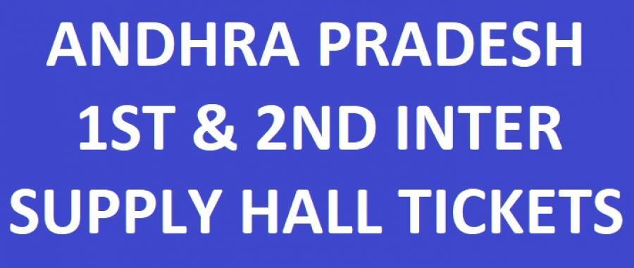 AP Inter 1st & 2nd Year Supply/Betterment Hall Tickets