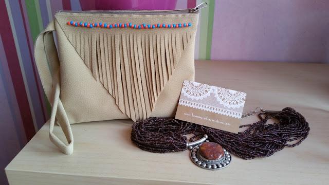 pochette, perle, couture, DIY, Bonnie Parker Créations, La Perle des Loisirs