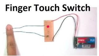 How to make touch switch using 2n2222