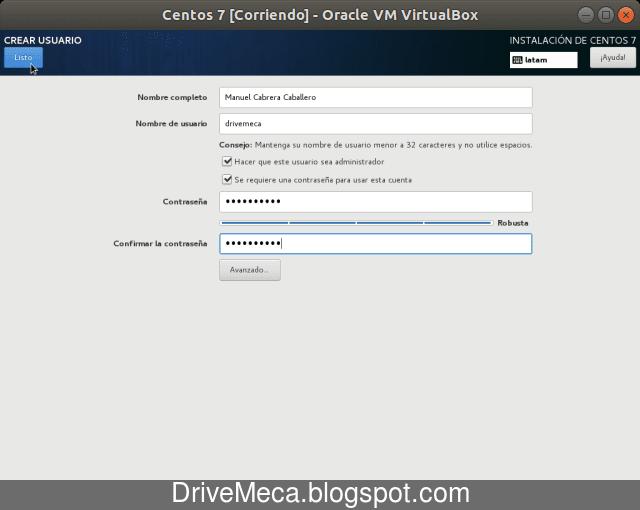 Creamos nuestra cuenta de usuario con permisos de administrador