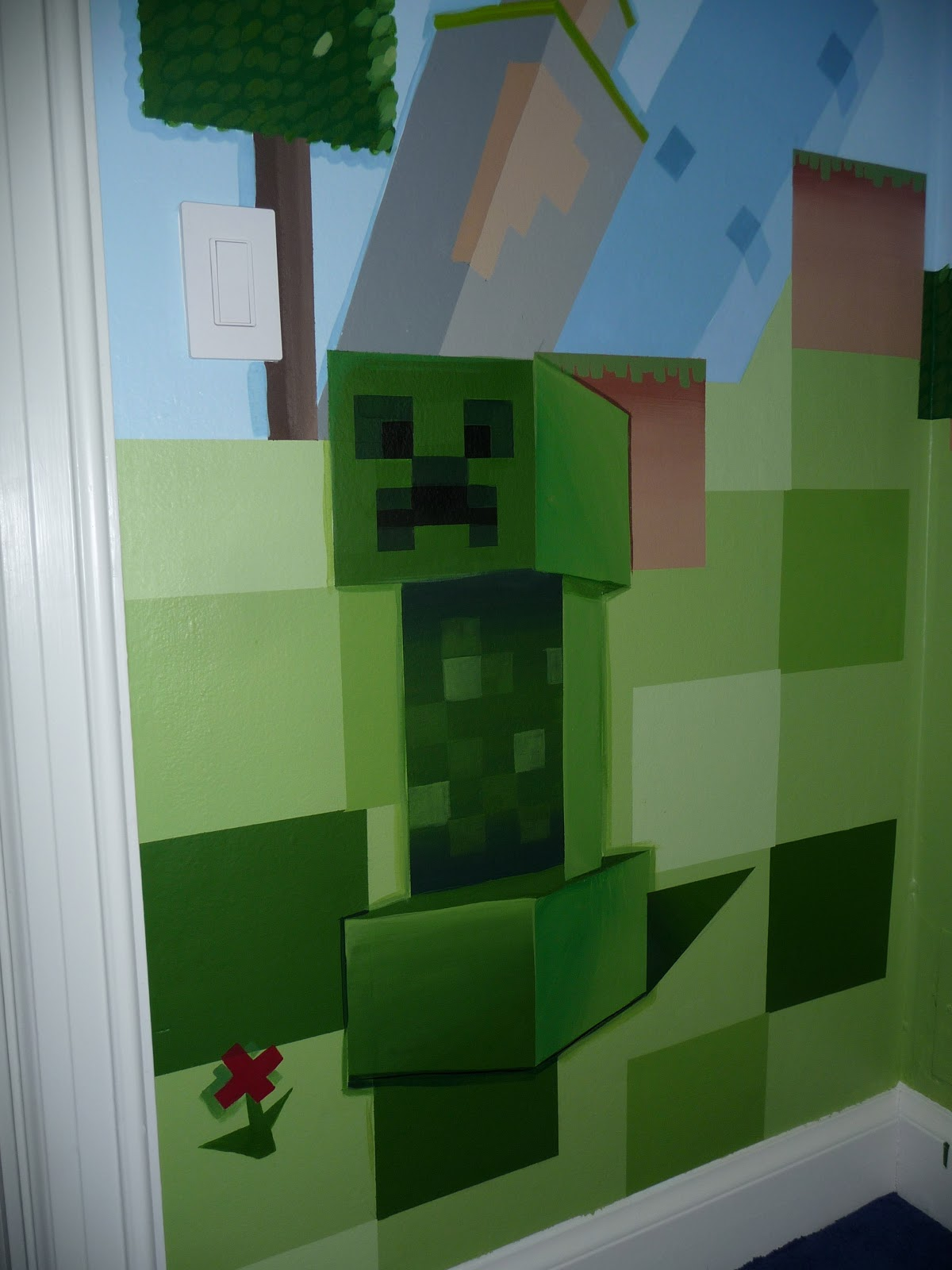 Meme Hill Studio Minecraft Mural Madness