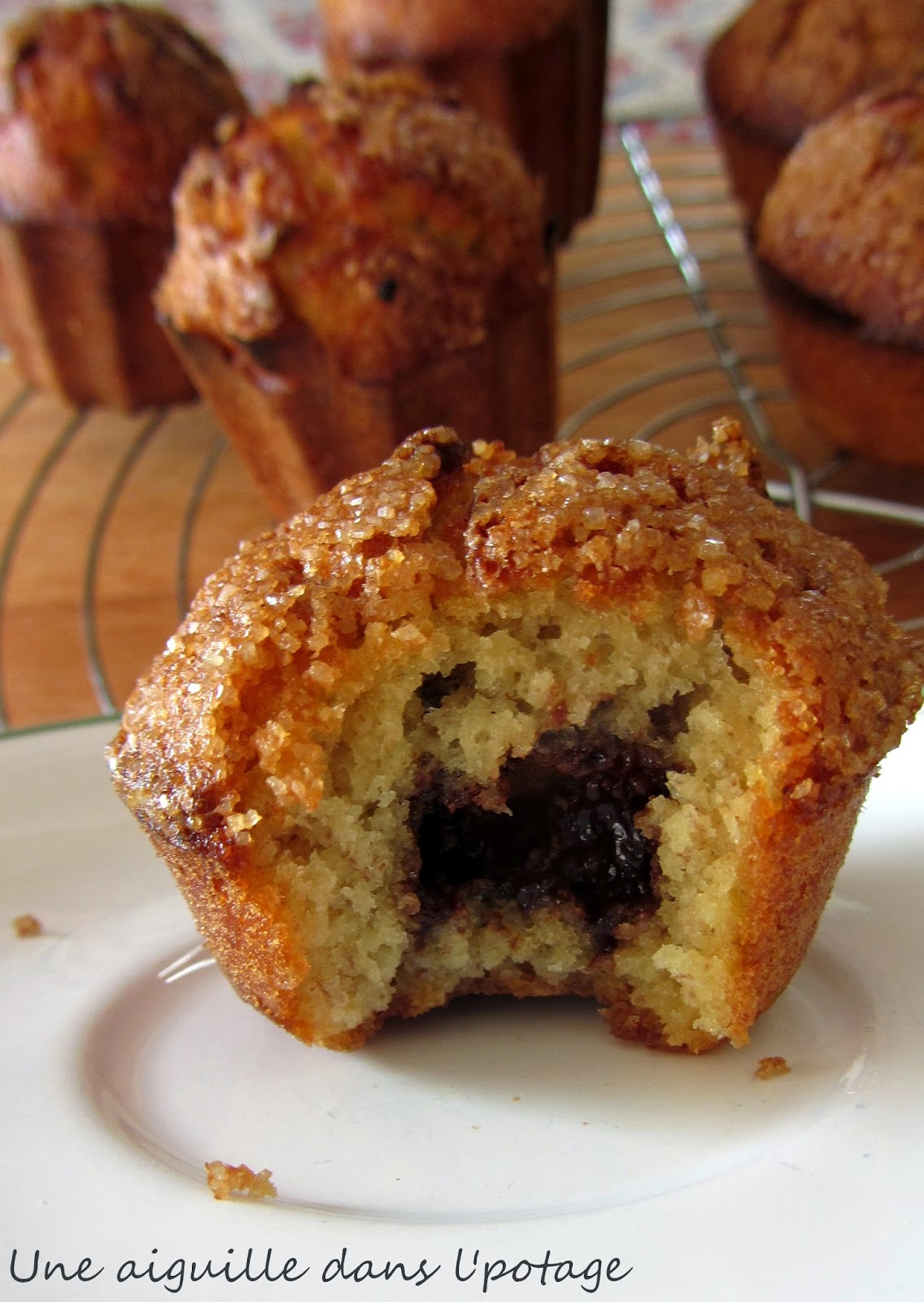 muffins-banane-coeur nutella