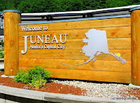 Welcome sign, Juneau Alaska