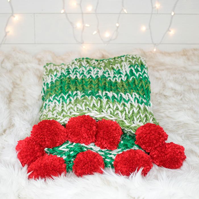 Holiday Throw Free Knitting Pattern