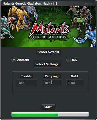 Mutants Genetic Gladiators Game Hack V1.2